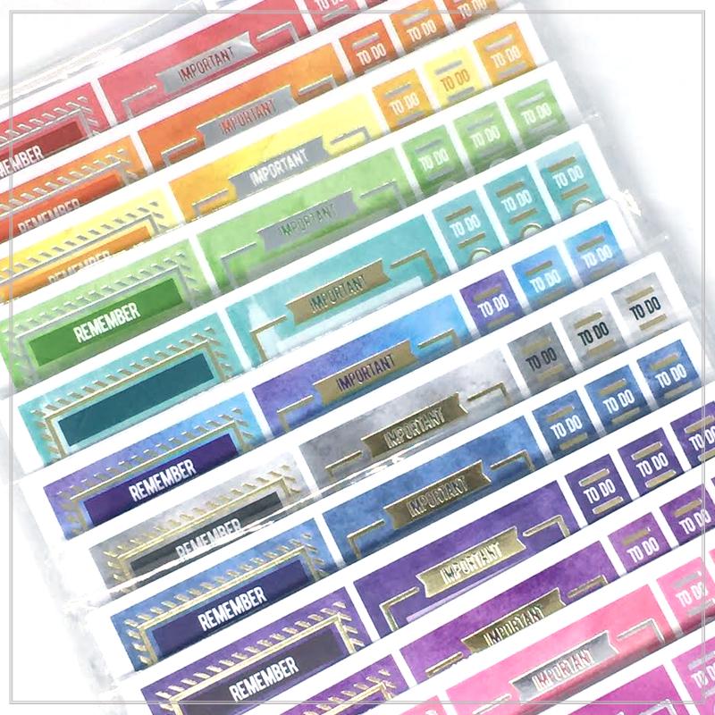 Rainbow Stickers –  888 מדבקות עיצוב לפלאנר