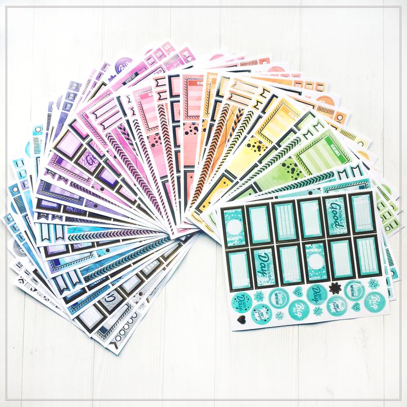 מדבקות עיצוב – צבעי הקשת